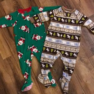 Set of 2 Footie PJs, Carter's, 18 Months